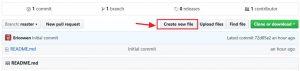 Create new file